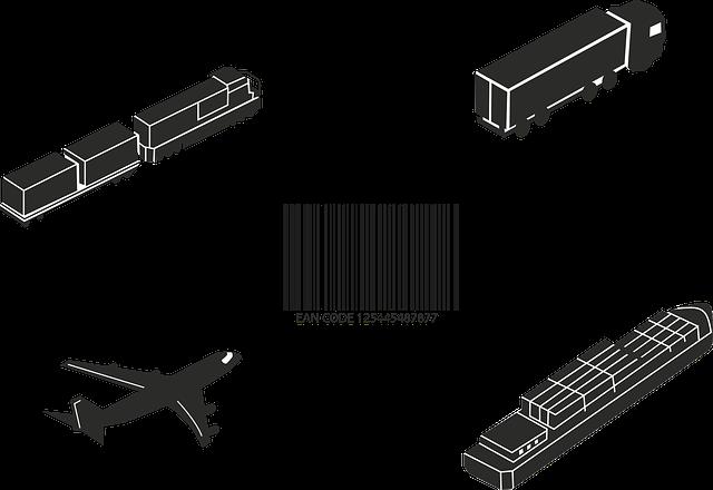 Barcode, Plane, Truck, Cargo, Train, Ship, Pixabay