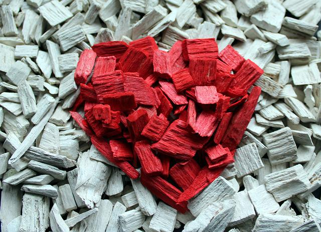 Heart, Composition, Bark Wood Wool, Symbol, Red Heart