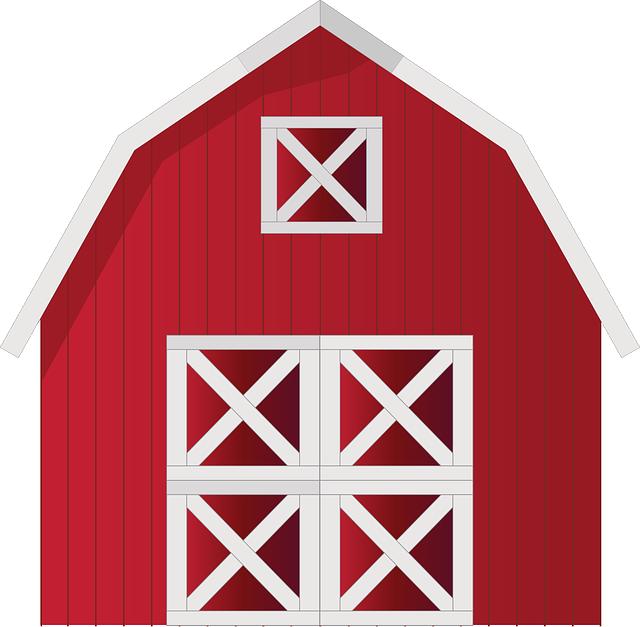 Barn, Farm, Red, Farm House, Countryside, Rural