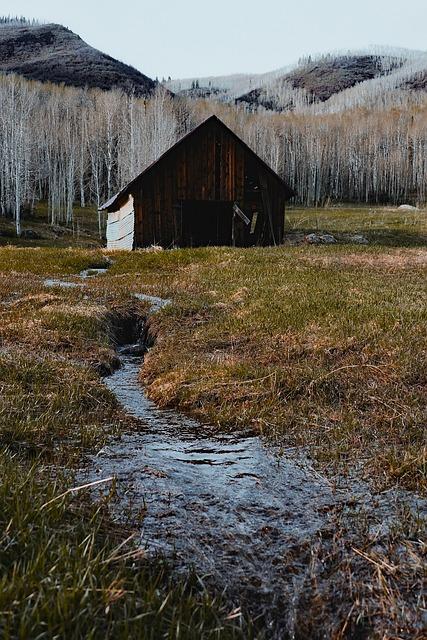 Colorado, Barn, Wooden, Farm, Rustic, Mountains
