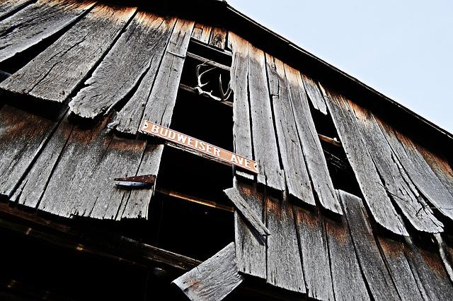 Barn, Wood, Budweiser Ave, Across The Country, Kentucky