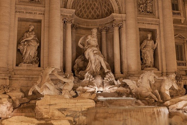 Architecture, Art, Baroque, Fountain, Italy
