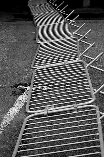 Barrier, Metal, Protection, Soil, Black And White