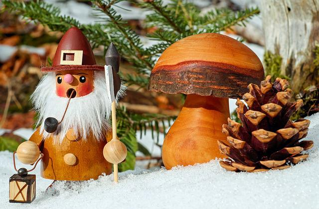 Smoking Man, Christmas Motif, Figure, Wood, Bart, Pipe