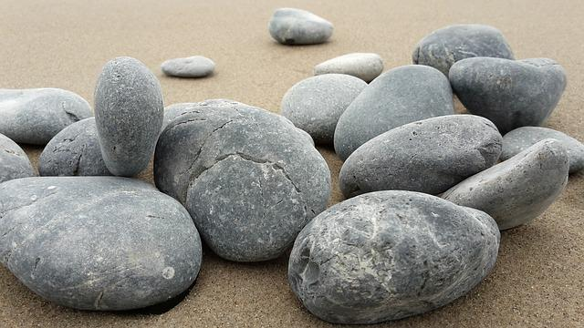 Basalt Stones, Sand, Rocks