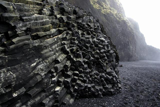 Black Beach, Basalt, Volcanic, Iceland, Landscape
