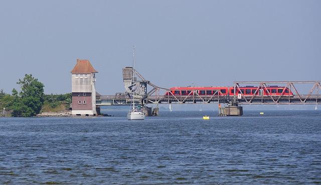 Schlei, Bottleneck, Bascule Bridge, Lindaunis Bridge