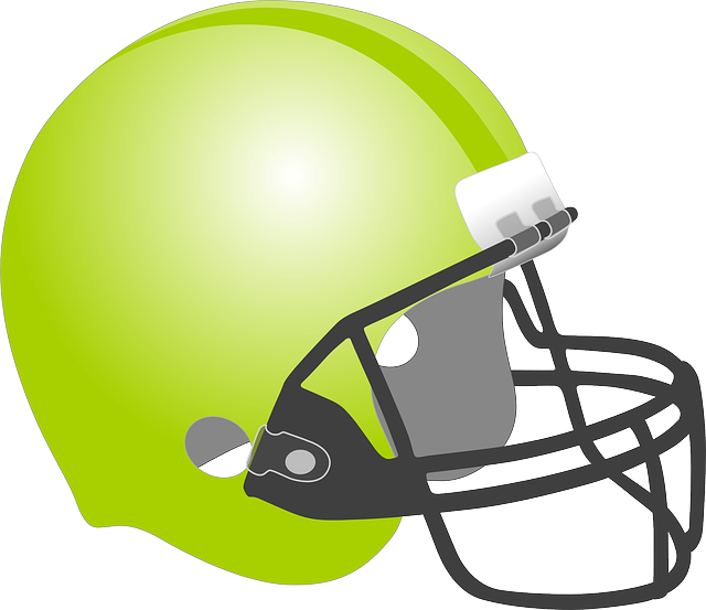 Football, Baseball, Helmet, Protection, Sport, Green