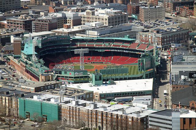 Fenway Park, Baseball Park, Boston, Aerial View