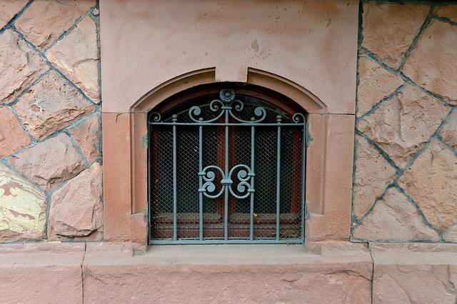 Basement, Lattice Window, Art Nouveau, Building