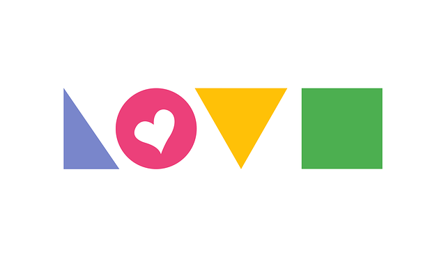 Love, Heart, Flat Design, Basic Shapes, Valentine