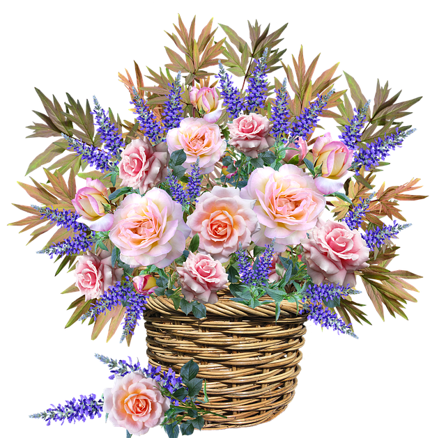 Flowers, Basket, Arrangement, Celebration, Garden