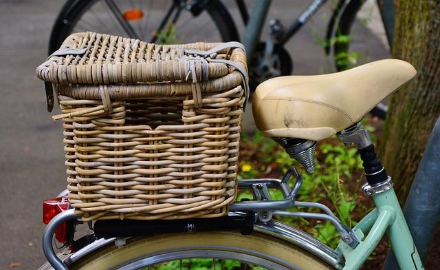 Bike, Bicycle Saddle, Bicycle Basket, Basket, Porter