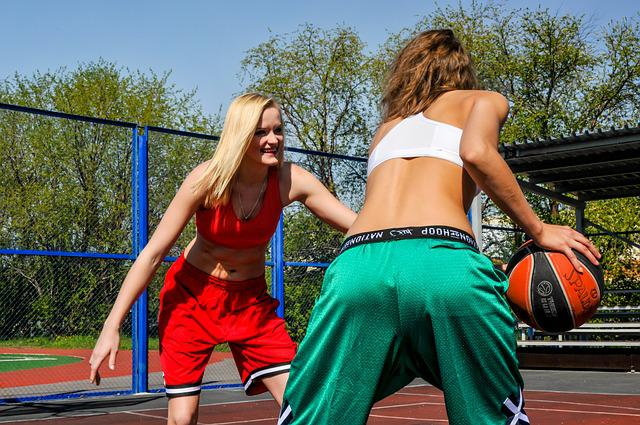 Girl, Park, Sports, Basketball, People, Athlete, Train