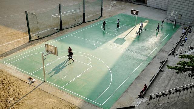 Hobbies, Sports, Basketball, Court, Players, Men