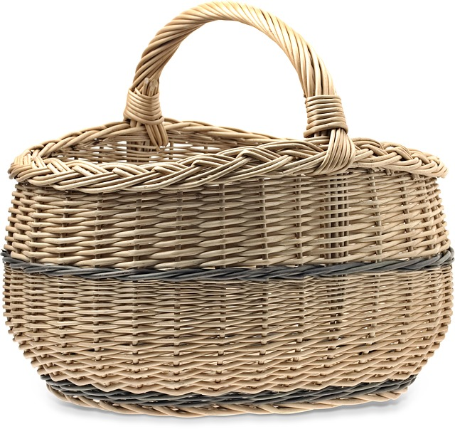 Shopping Cart, Basket Wicker, Baskets, Wicker