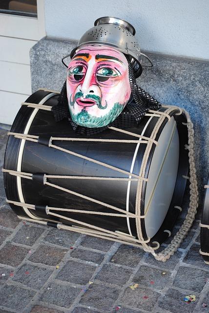 Mask, Drum, Carnival, Basler Fasnacht 2015