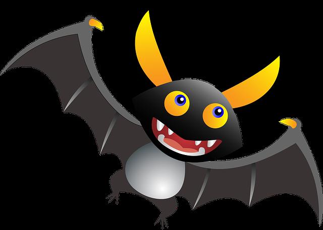 Animal, Bat, Blood, Cartoon, Comic, Cute, Drawing