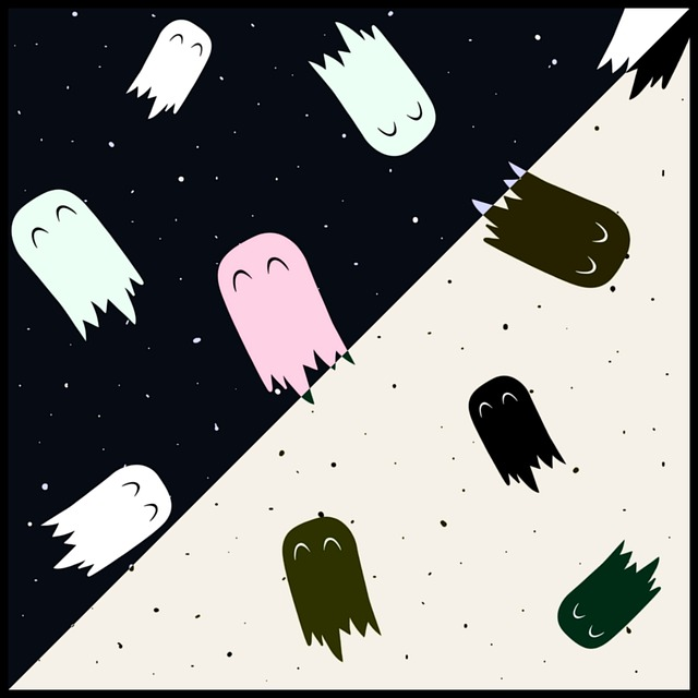 Ghost, Ghosts, Chalk, Poison, Bat, Chilling, Paper