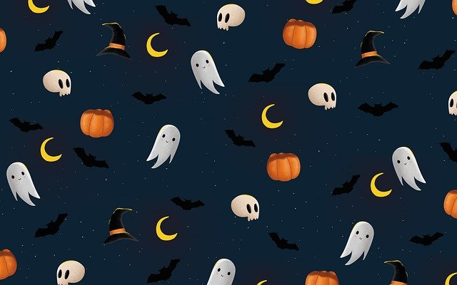 Halloween, Ghost, Pumpkin, Bat, Skull, Spooky, Creepy