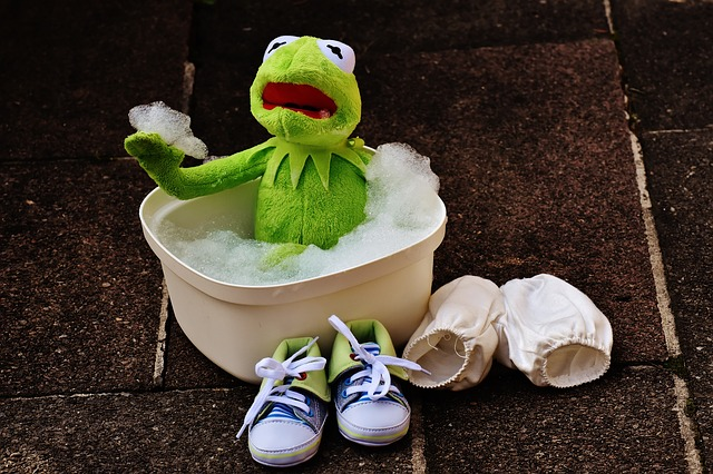 Kermit, Bath, Bath Foam, Funny, Frog, Cute, Swim, Foam