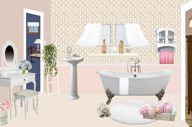Bathroom, Bath, Antique, Rug, Vintage, Hairdresser