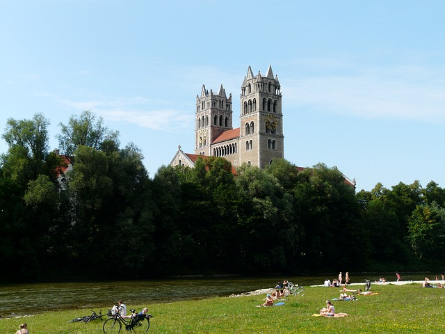 Isar, River, Lawn, Bathing Meadow