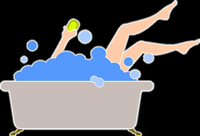 Bathroom, Foam, Bathtub, Sparkling, Bathing, Beauty