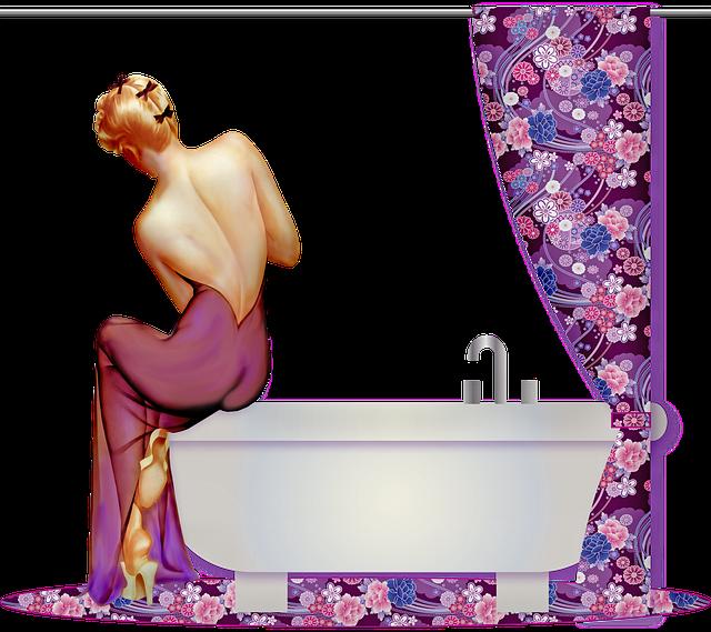 Bathroom, Bathtub, Sink, Rug, Shower Curtain