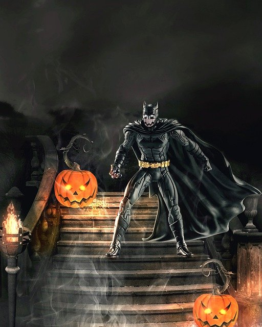 Batman, Halloween, Dark, Gothic, Manipulation, Pumpkin