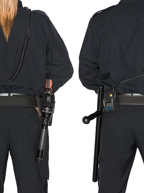 Police, Policeman, Uniform, Baton