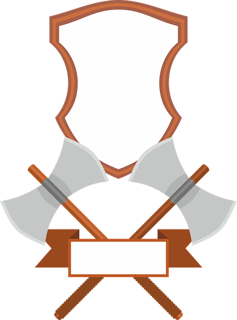 Coat Of Arms, Banner, Shield, Battle Shield, Axe