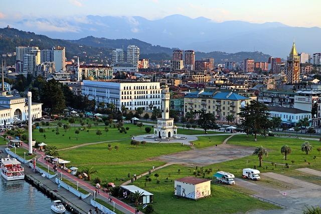 Batumi, Georgia, Adjara, View, Resort, City