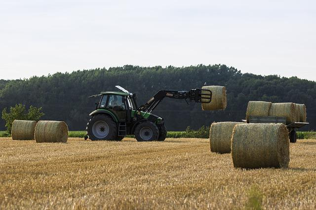 Tractor, Harvest, Straw, Bauer, Agriculture, Fields