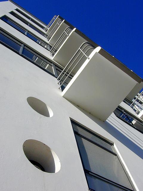 Bauhaus, Architecture, Dessau, Building, Sky, Blue