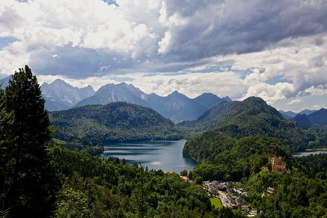 Hohenschwangau, Alps, Alpsee, Bavaria, Cloudscape