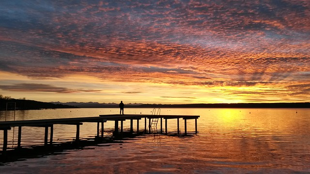 Ammersee, Sunset, Germany, Bavaria