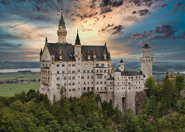 Castle, Kristin, Bavaria, Germany, Fairy Tales, Füssen
