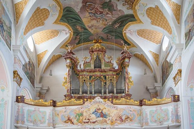 Church, St Peter And Paul, Deggendorf, Organ, Bavaria