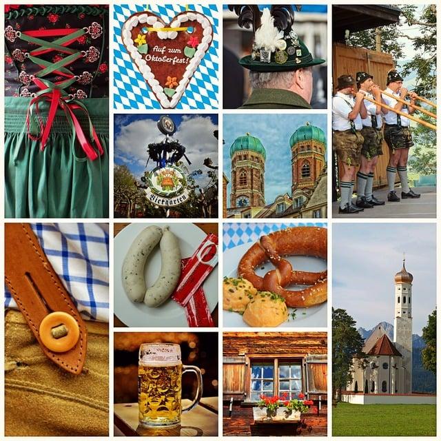 Collage, Bavaria, Oktoberfest, Munich, Bavarian