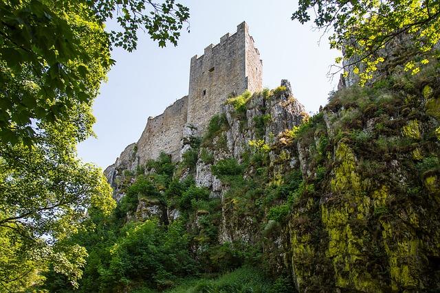 White Stone, Castle, Ruin, Bavaria, Bavarian Forest