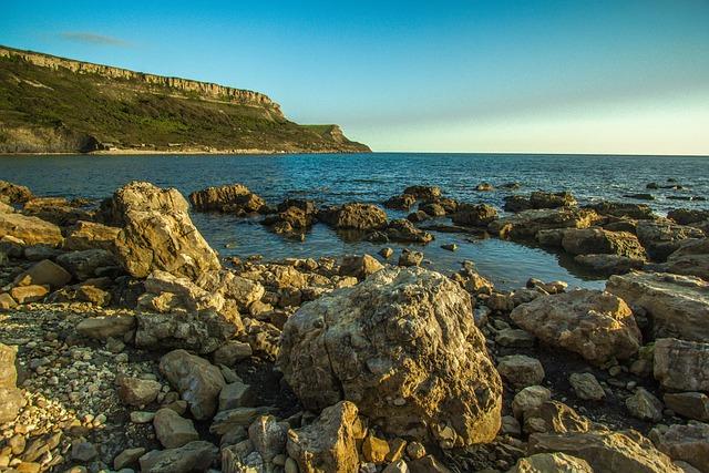 Bay, Chapman's Pool, Stones, Sea