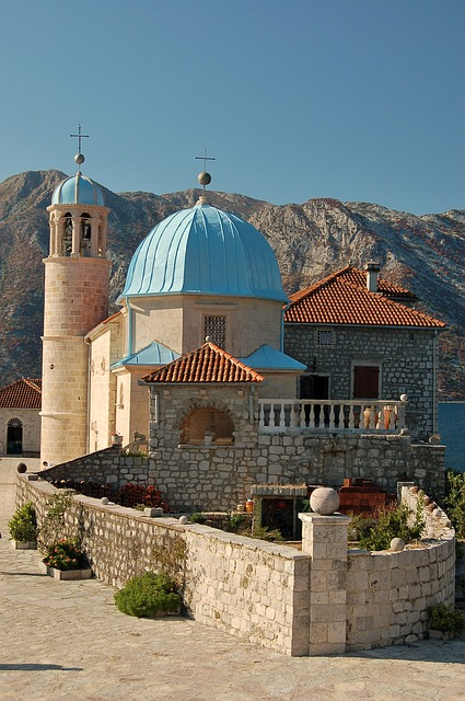 Temple, Church, Island, Bay, Perast, Montenegro