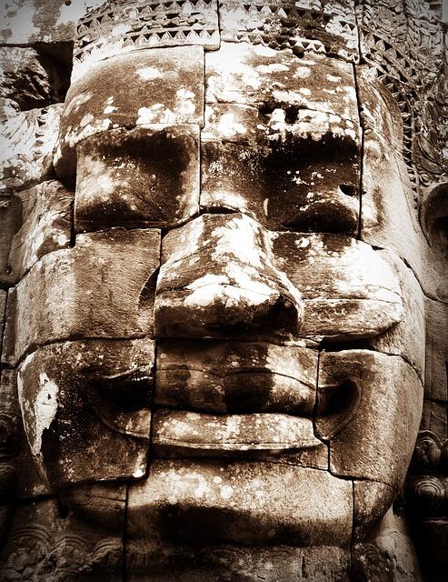 Reap, Siem, Cambodia, Angkor, Bayon, Wat, Asia, Tree