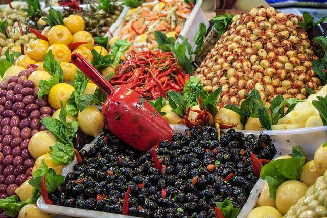 Morocco, Market, Olives, Bazaar, Souk, Meknes, Lemons