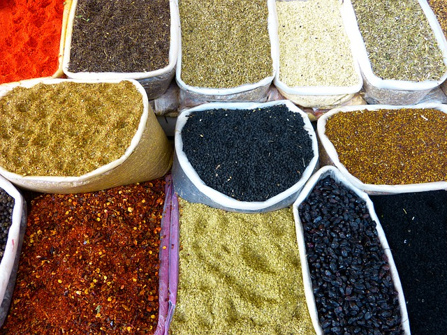 Spices, Market, Bazar, Colorful, Color, Trading Post