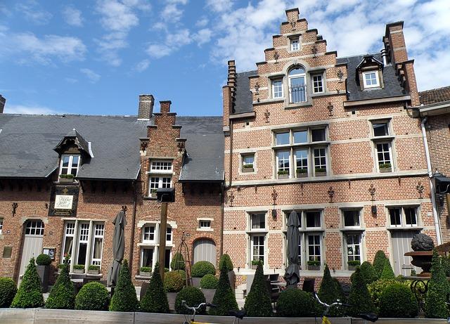 Bazel, Belgium, Gable, Pediment, Building, Architecture