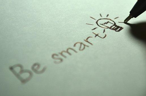 Smart, Be Smart, Clever, Mindset, Bulb, Light, Bright