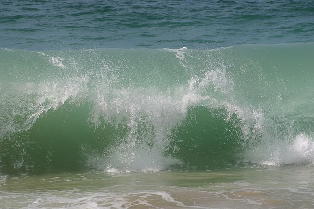 Wave, Breaking, Water, Atlantic, Sea, Beach