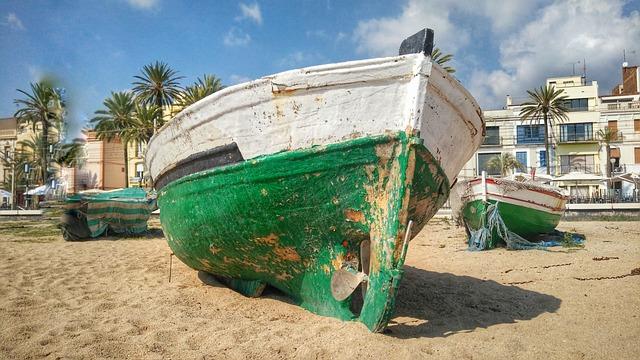 Boat, Beach, Barcelona